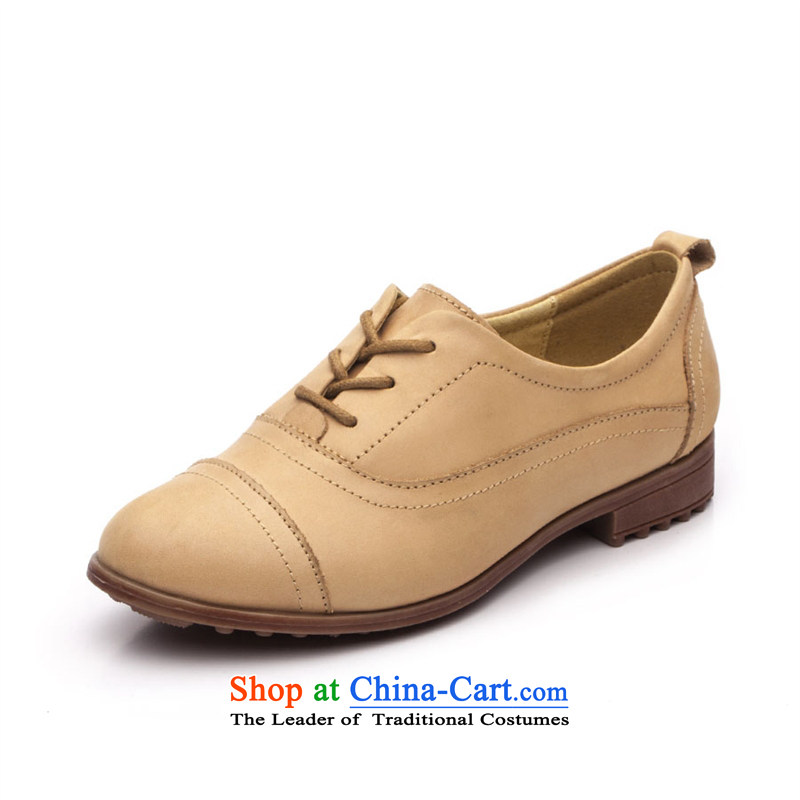 2015 Spring Ibrahim leather shoe England deep flat with shoe points with a casual Oxford shoes D36 Anthuriam37