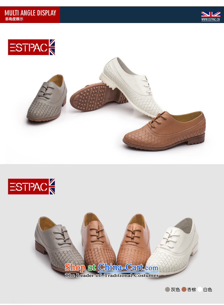 Ipswich-three in 2014 carved stylish single shoe female head layer cowhide flat with a pointed to the British air-BLOK Oxford shoes D37 Gray 38 pictures, prices, brand platters! The elections are supplied in the national character of distribution, so action, buy now enjoy more preferential! As soon as possible.