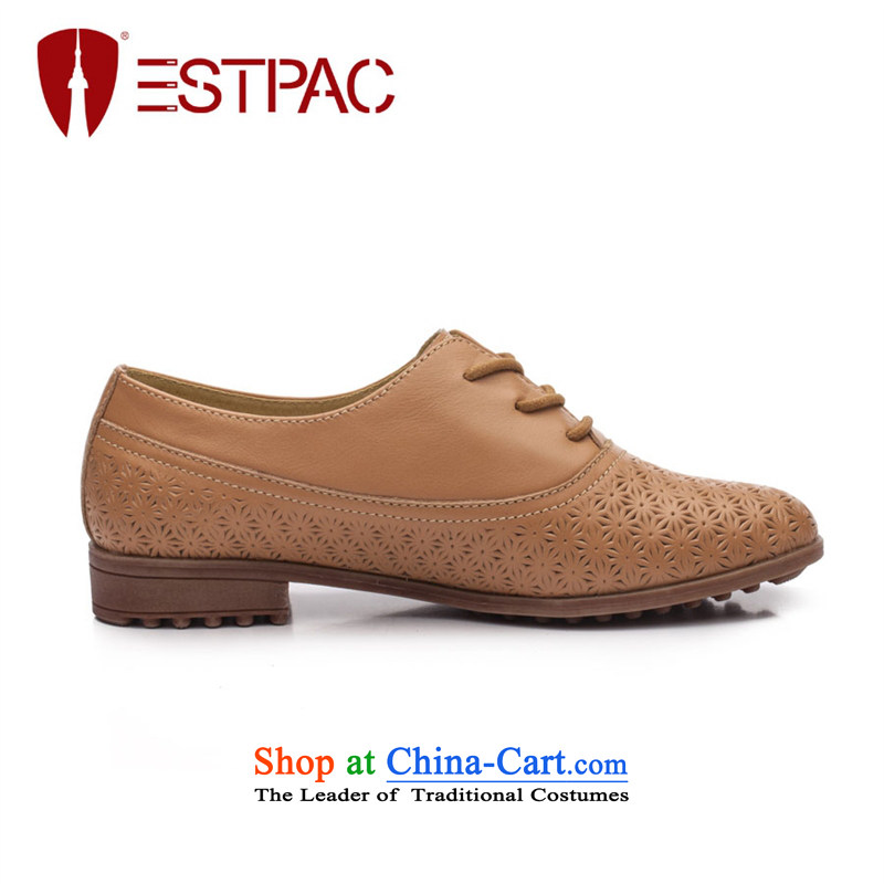 Ipswich-three in 2014 carved stylish single shoe female head layer cowhide flat with a pointed to the British air-BLOK Oxford shoes D37 Gray 38, Ibrahim (estpac) , , , shopping on the Internet