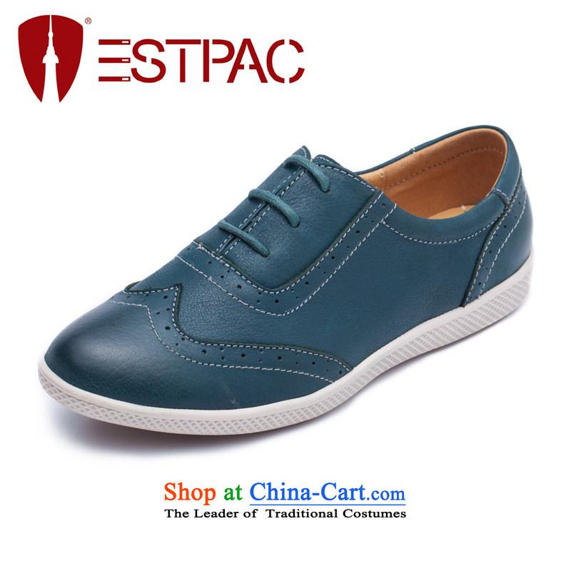 2015 Spring Ibrahim England single shoe flat with sport shoe leather strap Blok Oxford shoes B06 dark green37