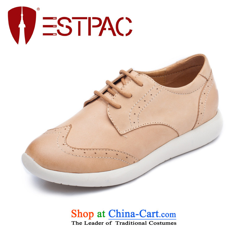 The Autumn Campaign Ibrahim single shoe England points with a leather shoes carved with flat Blok Oxford shoes Y02 ANTHURIAM37
