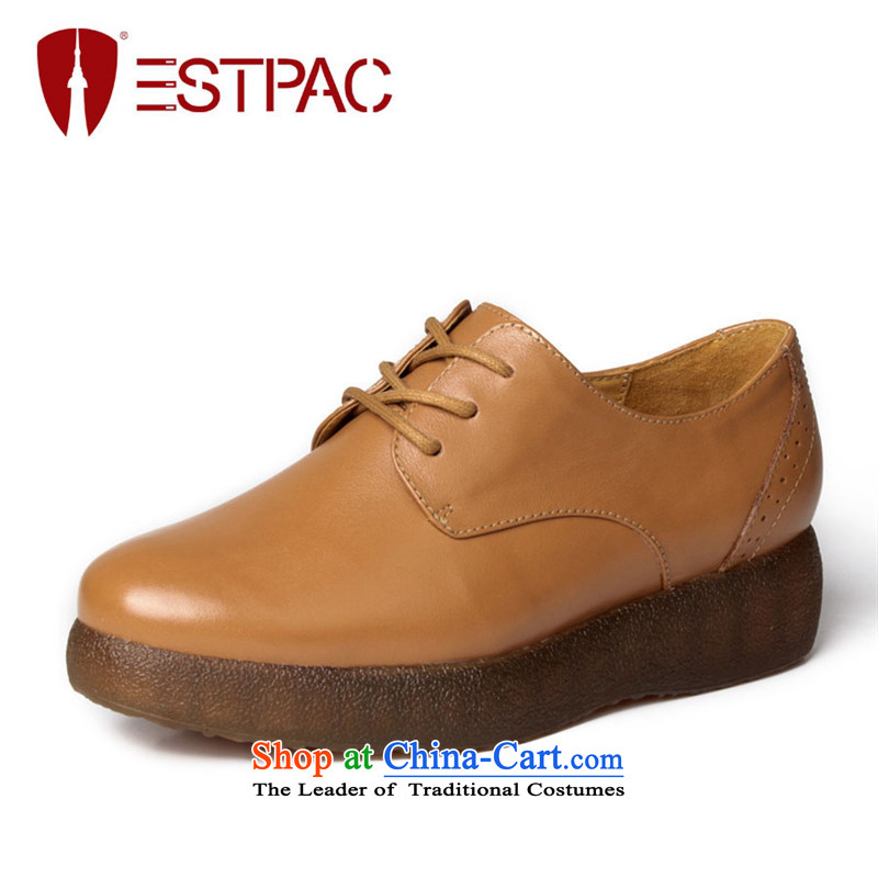 Ibrahim fall to the British wind platform shoes female Harajuku retro women shoes thick leather strap Oxford single point shoes H1, Brown39