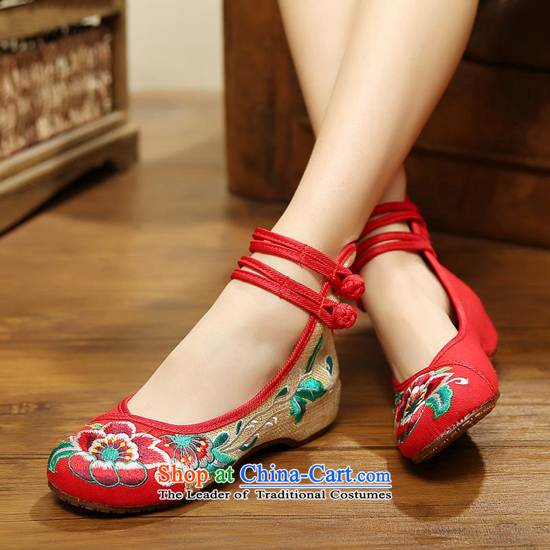 The silk fabric of Old Beijing embroidered shoes fall with women shoes nation low wind increased within the dance with shoesA412-151 slopered38, Ms Shelley silk , , , shopping on the Internet