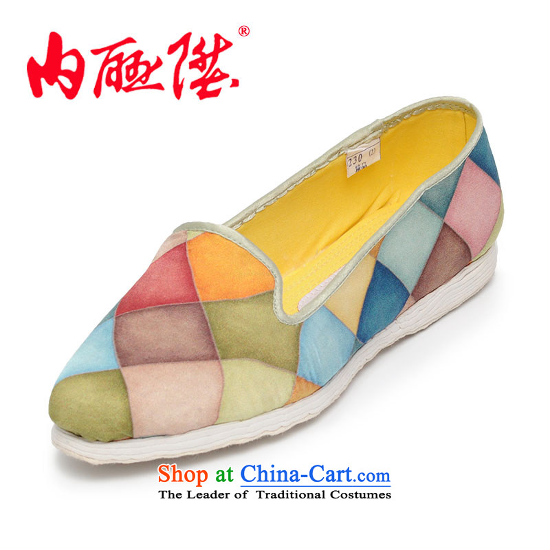 The thousand-layer mesh upper with women shoes bottom tabs on the small-watercolor mesh upper mesh upper 8606A TANGYAN Beijing, mixed39