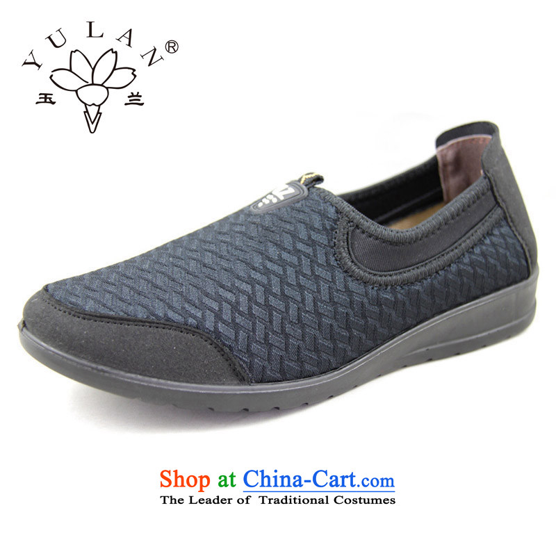 Magnolia Old Beijing mesh upper spring and autumn womens single shoe movement of leisure in the foot of the older 2312-1228 mesh upper black38