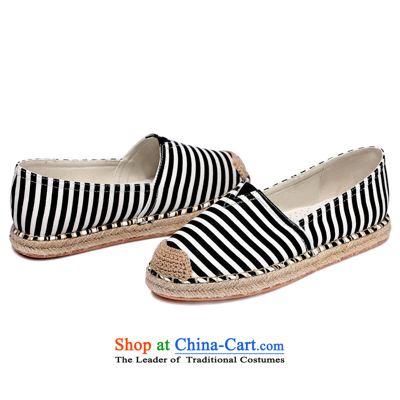 Ya Shi'Or茅al聽3006聽stylish casual shoes flat shoe canvas shoes female black聽38
