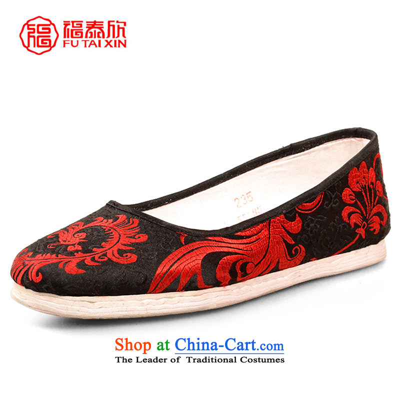 Fu Tai Yan Old Beijing mesh upper end of thousands of manually female traditional mesh upper ethnic satin mother shoe satin Phoenix sea in 40