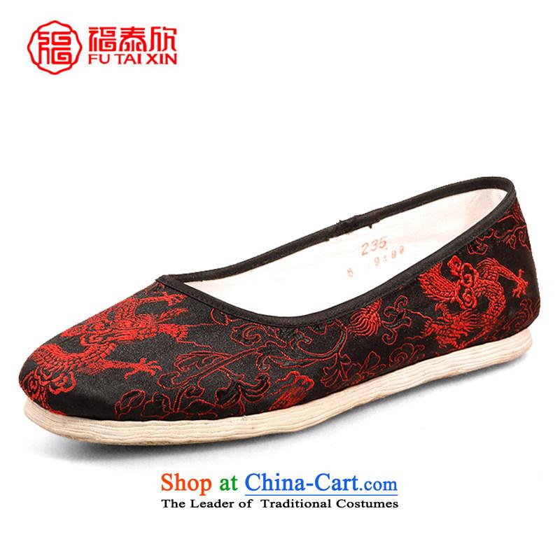 Fu Tai Yan manually bottom thousands of traditional old Beijing Women National Women's Shoe mesh upper with satin red dragon sea $37