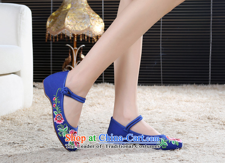 Dan Jie Shi 2015 Autumn new wealth peony embroidered shoes of Old Beijing mesh upper ethnic retro embroidered shoes Plaza Dance Shoe stylish girl single color 37 pictures shoes cowboy, prices, brand platters! The elections are supplied in the national character of distribution, so action, buy now enjoy more preferential! As soon as possible.