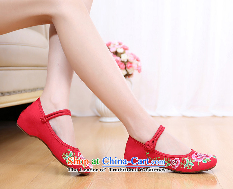 Dan Jie Shi 2015 Autumn new wealth peony embroidered shoes of Old Beijing mesh upper ethnic retro embroidered shoes Plaza Dance Shoe stylish girl single color37 pictures shoes cowboy, prices, brand platters! The elections are supplied in the national character of distribution, so action, buy now enjoy more preferential! As soon as possible.