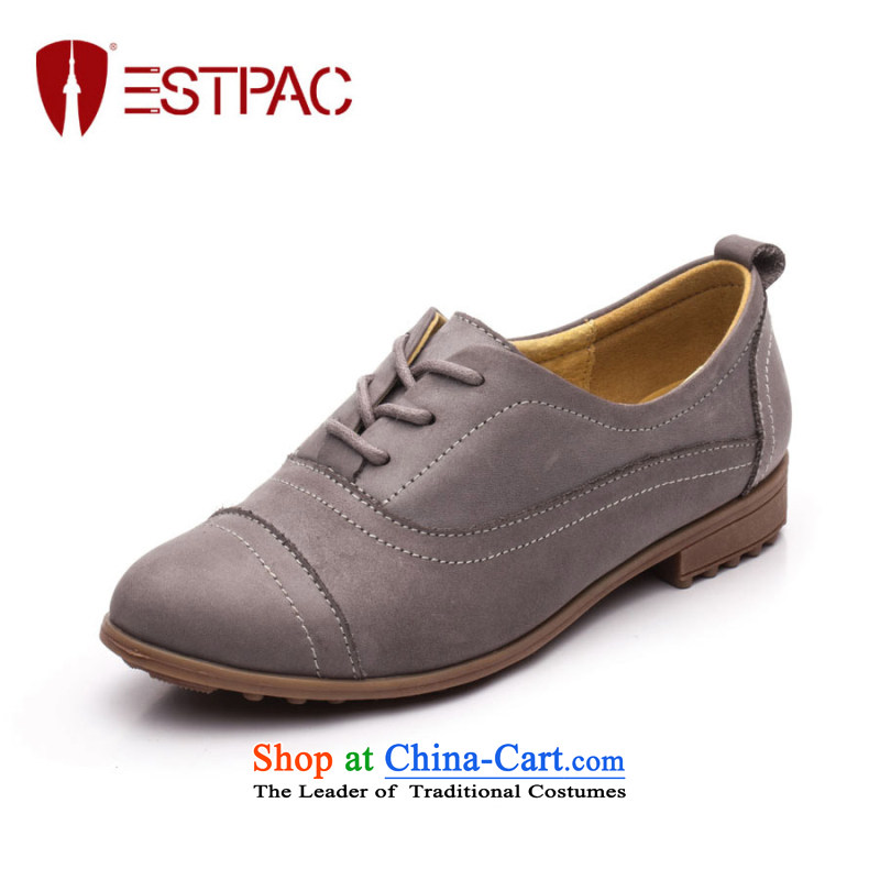 Ibrahim Fall leather shoe England deep flat with single point of shoes Blok tether leisure shoes D36 Purple37 Oxford