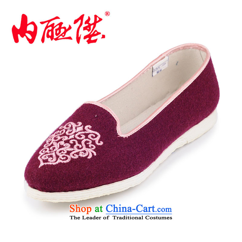 The new L female mesh upper mesh upper-gon tangyan beijing arts small tabs on Chun Sang manually bottom thousands of single shoe 8,605 Red 38