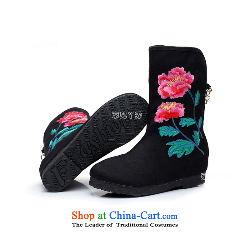 Yutaka Take July-september new products, Choo Old Beijing mesh upper female embroidered boots increased within a single ethnic single female boots boots leisure wild mid boot 810E 38, Putin has children black-soo , , , shopping on the Internet