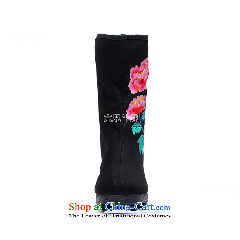 Yutaka Take July-september new products, Choo Old Beijing mesh upper female embroidered boots increased within a single ethnic single female boots boots leisure wild mid boot 810E38, Putin has children black-soo , , , shopping on the Internet