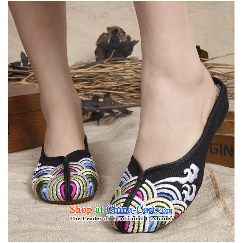 In the summer and autumn of 2015, a new wave of old shoes dance the Beijing shoes slippers Oxford soft bottoms stay cool and embroidered shoes xhx black37