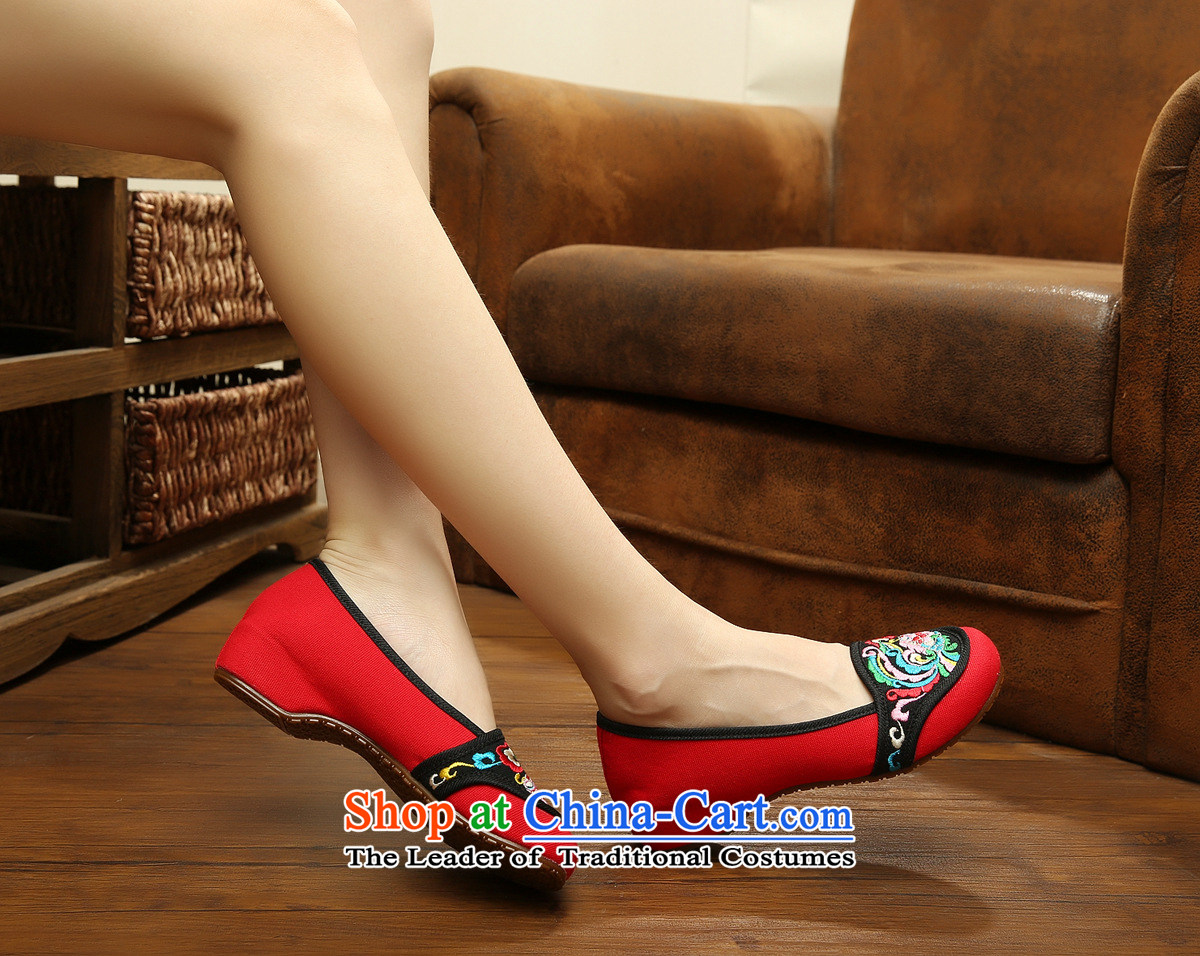 The autumn 2015 new leisure old Beijing National wind increased within mesh upper embroidered shoes with canvas womens single slope xhx shoes red 37 pictures, prices, brand platters! The elections are supplied in the national character of distribution, so action, buy now enjoy more preferential! As soon as possible.
