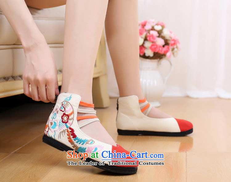 Bong-wearing the new order autumn Mudan shoes embroidered shoes zipper women shoes cowboy colorpicture 35, prices, brand platters! The elections are supplied in the national character of distribution, so action, buy now enjoy more preferential! As soon as possible.