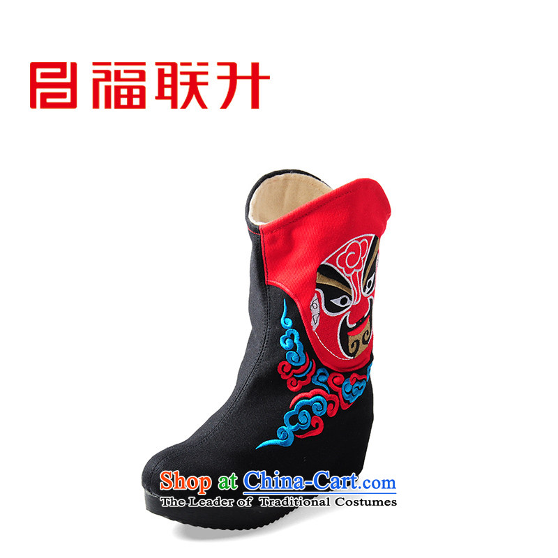 Well the l old Beijing mesh upper embroidered shoes of ethnic FLB567688 mesh upper black 38