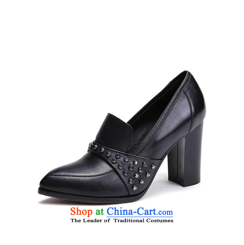 Counters genuine YGK stylish deep single 2015 toe layer cowhide with high-heel points rough water drilling women shoes 9538 Black 36 pictures, prices, brand platters! The elections are supplied in the national character of distribution, so action, buy now enjoy more preferential! As soon as possible.