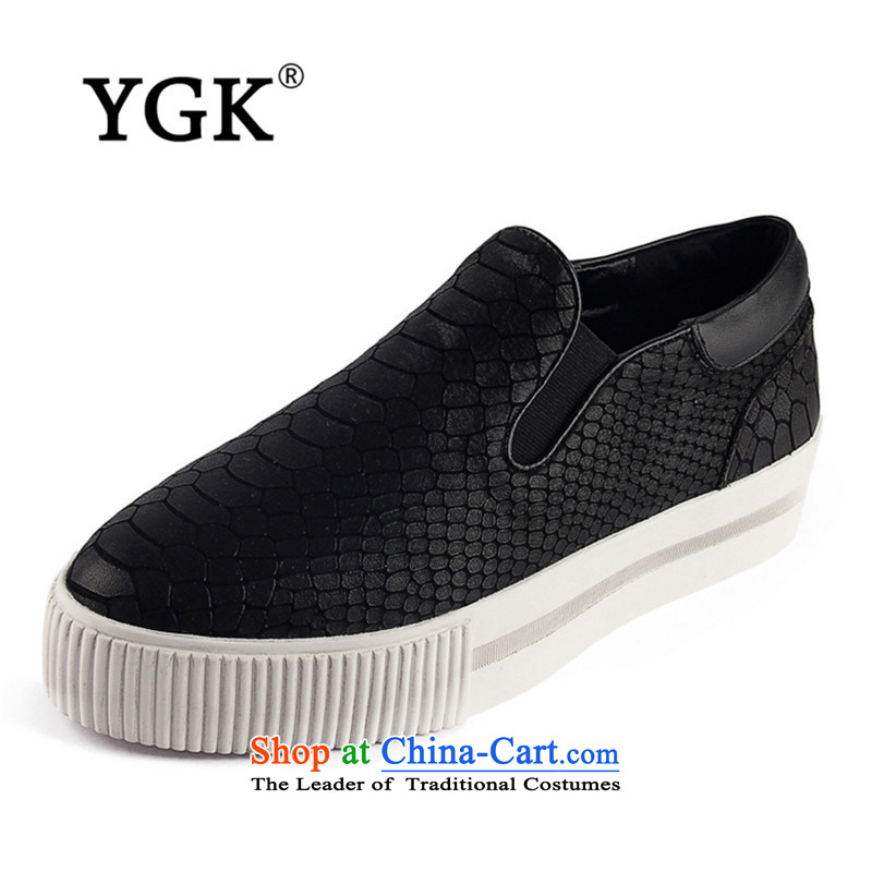 Ygk counters genuine autumn stylish casual England within the thick rising single shoe cake Bottom shoe 2447 Black 39