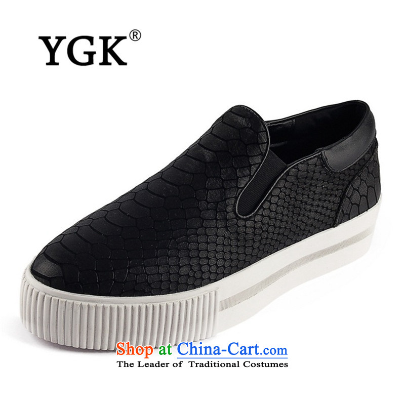 Ygk counters genuine autumn stylish casual England within the thick rising single shoe cake Bottom shoe 2447 Black 39,YGK,,, shopping on the Internet