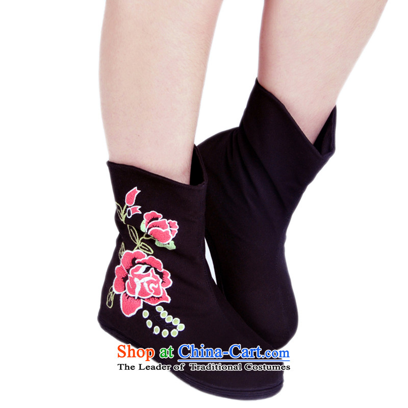 Is small and the old Beijing mesh upper ethnic Mudan increased within embroidery female Red 35 H02 ZCA, Boots is small-mi (LOVELY BEAUTY , , , shopping on the Internet