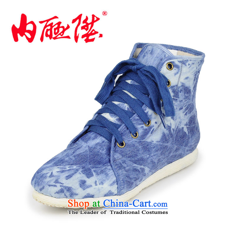 Inline l women shoes-gon thousands of ocean blue ladies boot during the spring and autumn tangyan Beijing8642A mesh upperBlue37