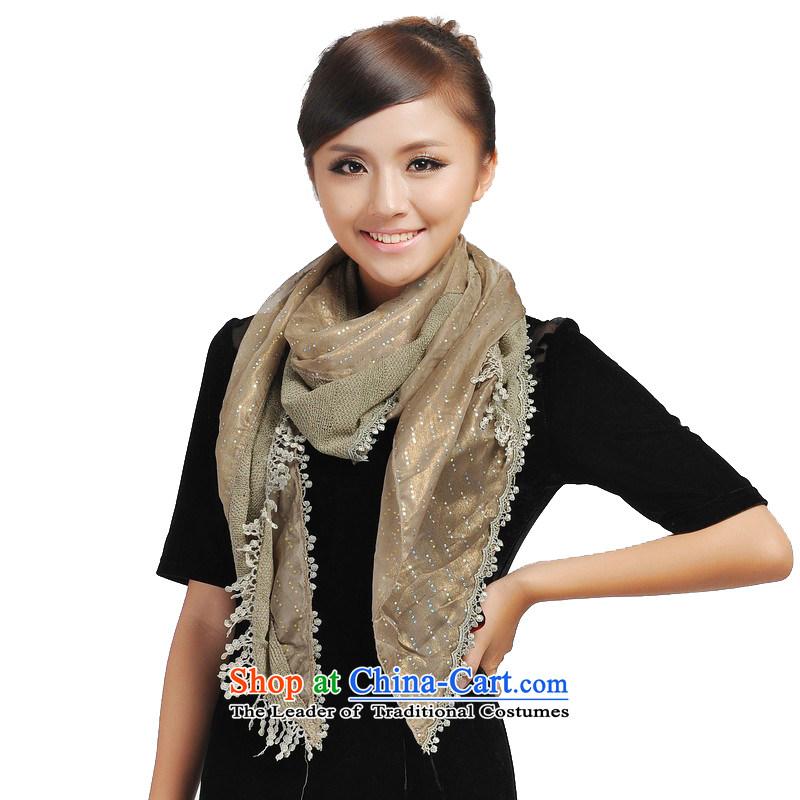 Shanghai Story super star stylish light slice chopper lace widen scarf 166111 green