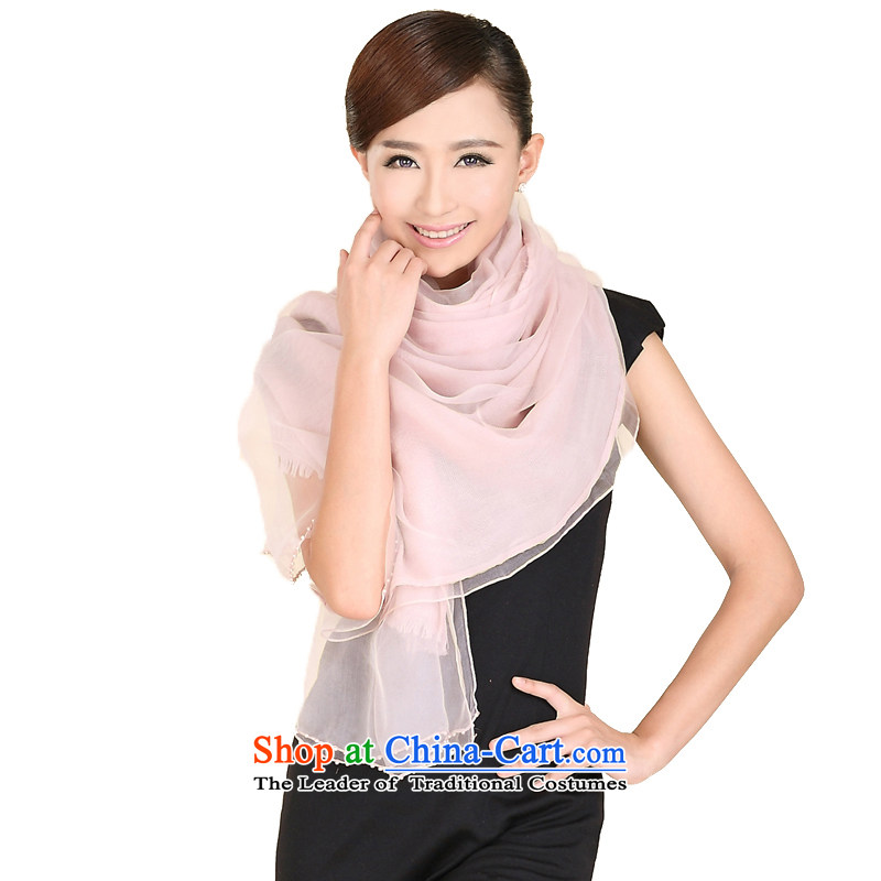Shanghai Story autumn and winter new wool jacquard silk scarf of Pearl set color thick warm double-grown up 158060 shawl bare Pink
