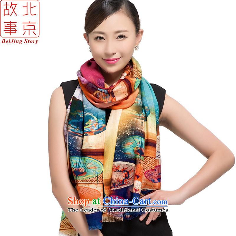 Beijing2015 new story o wooler scarf women winter 72 support digital inkjet warm long a shawl178002Gangnam Amidst the Rain.
