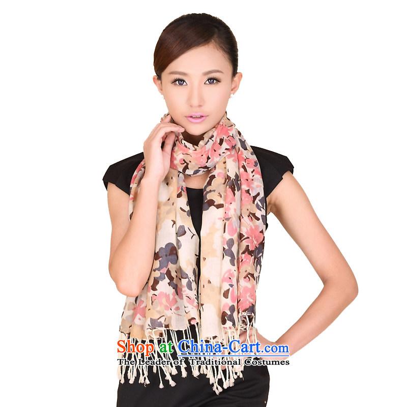 Shanghai Story autumn and winter new stylish stamp wooler scarf Korean girls a chopper shawl 158030 Beige