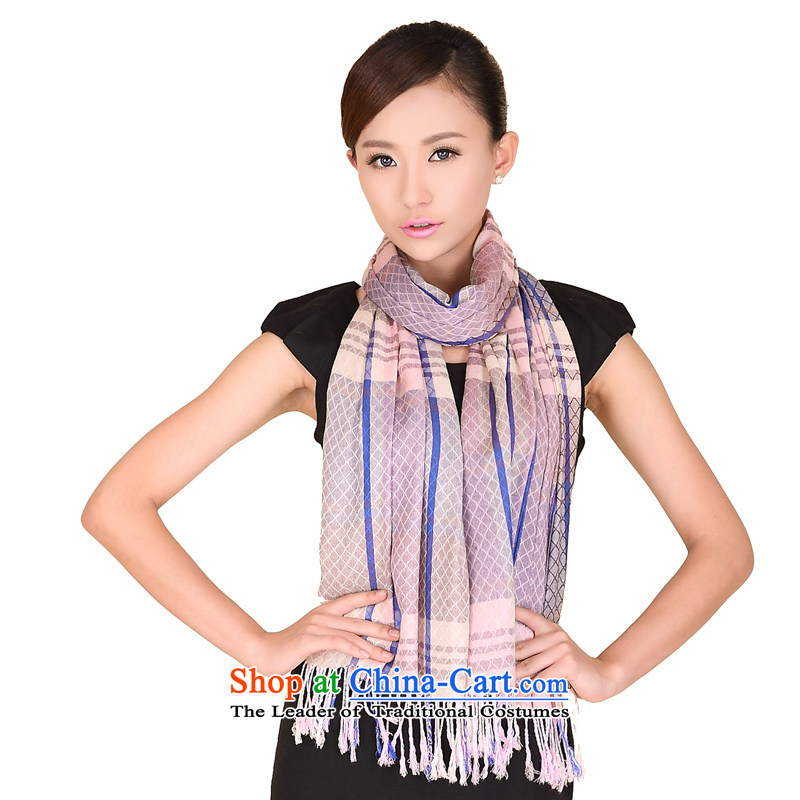 Shanghai Story stylish latticed scarf cotton autumn and winter men and women a warm 149109 m Blue