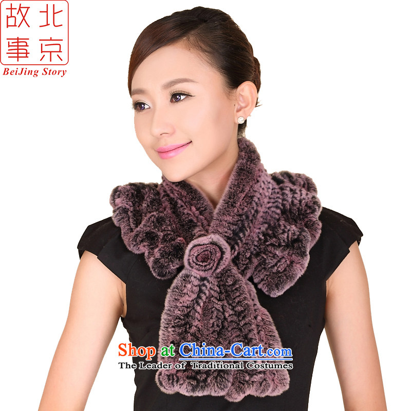 Beijing story fur muffler for autumn and winter by Ms. Sleek and Versatile Process and lead to warm Maomao 158090 a pink