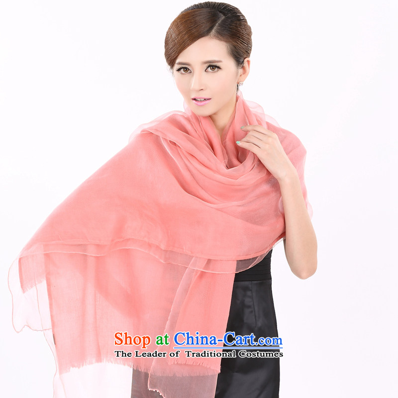 Shanghai Story pure color woolen jacquard silk scarf autumn and winter pearl booking female stylish warm-ups extended shawl 158060 rubber red