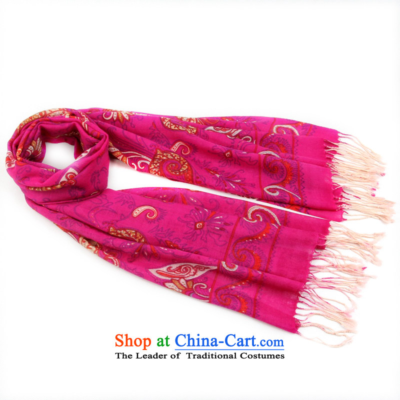 Shanghai Story Pure Wool scarf classic Sleek and versatile, autumn and winter warm woolen scarf shawl 158101 stamp in red