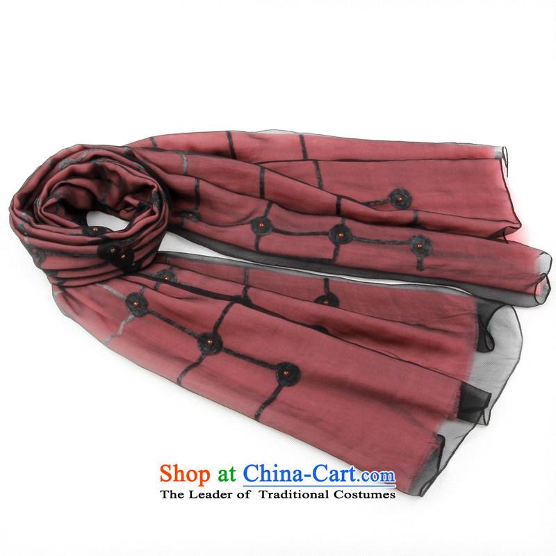 Shanghai Story Ms. scarves winter western temperament silk velvet wool Plate flower double warm Fancy Scarf 158083 Pink