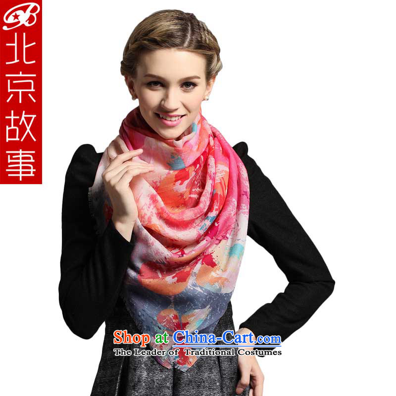Beijing Wool scarf female Winter Story of ethnic women cape scarf 103008 Pink