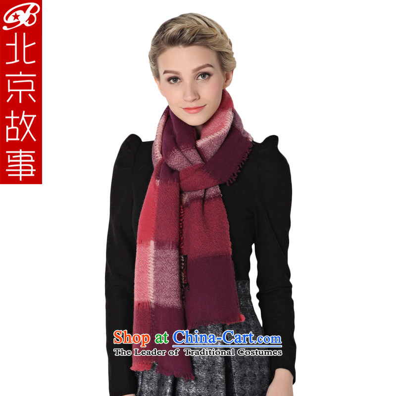 Beijing story of autumn and winter, wool quilts Handkerchief too large air-conditioning shawl in red two scarf