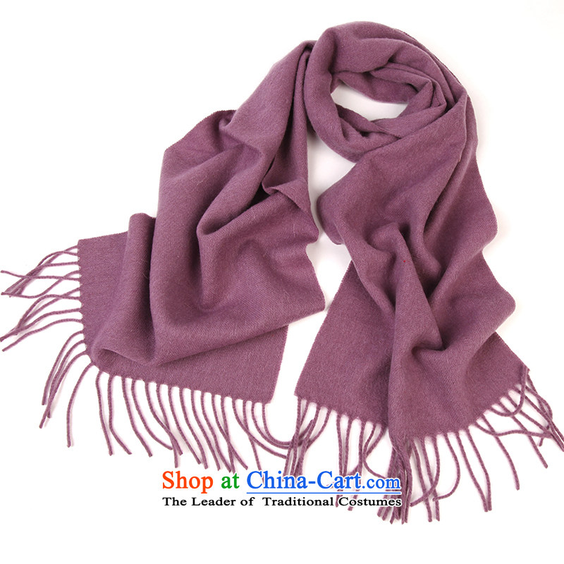 Shanghai Story scarf spring and autumn latticed lamb wool woolen scarves 2014 Winter unisex Purple