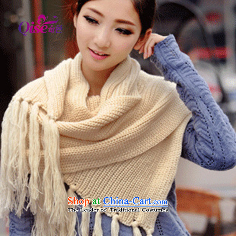 2015 Korean Autumn and Winter Sweater Knit Thick Long Scarf Beijing Youth a warm beige