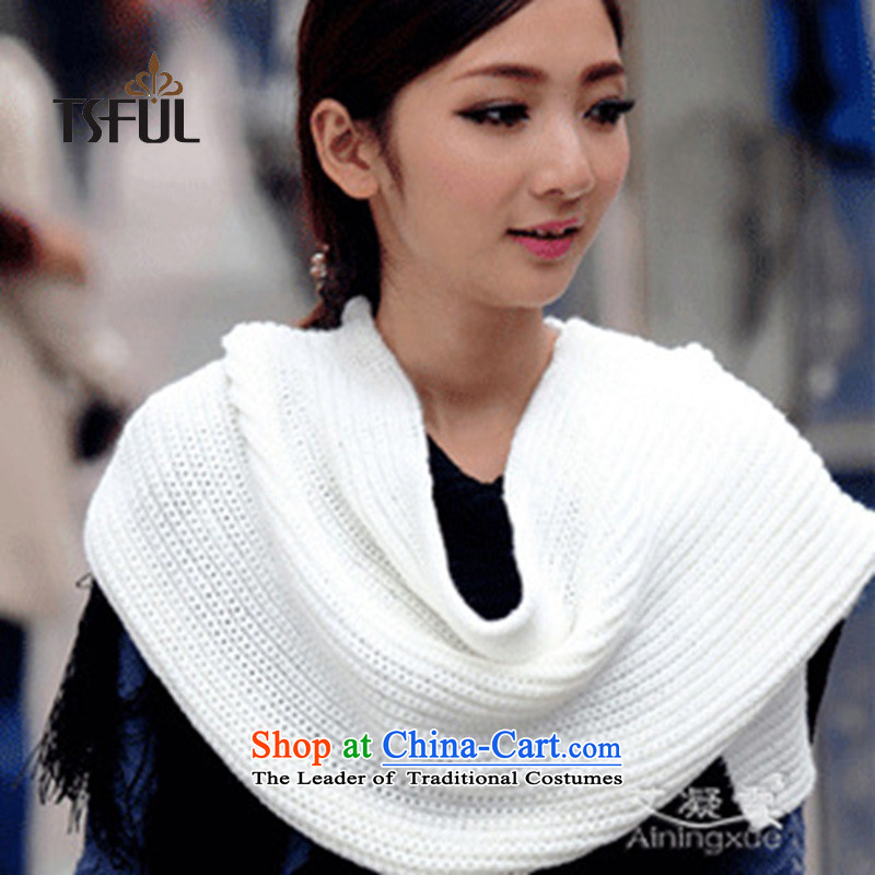 2015 Korean autumn and winter tsful Thick Long Knitting scarves knitted Beijing Youth warm a black-and-white