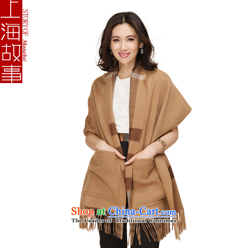 Shanghai Story-bag double sided wool Fancy Scarf and color