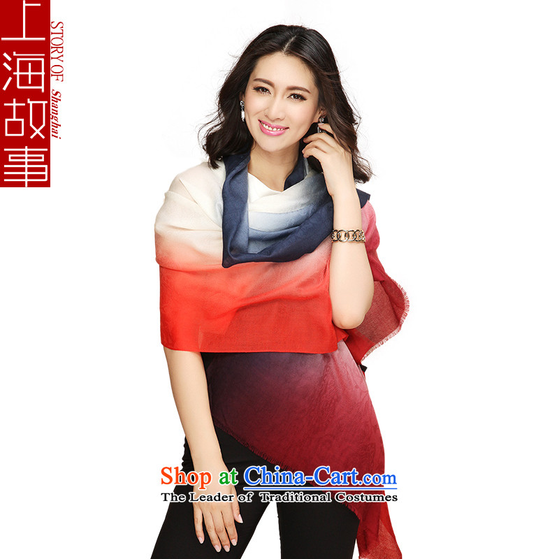 Shanghai Story autumn and winter new products Jacquard satin dyeing pashmina shawl Ms.6#