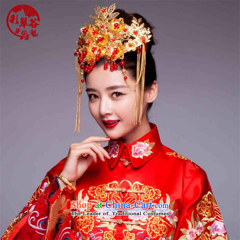 Multimedia verdant valleys costume stream Su Feng Crown CHINESE CHEONGSAM Crown Head Ornaments Soo-wo service use the accessories to the dragon gift