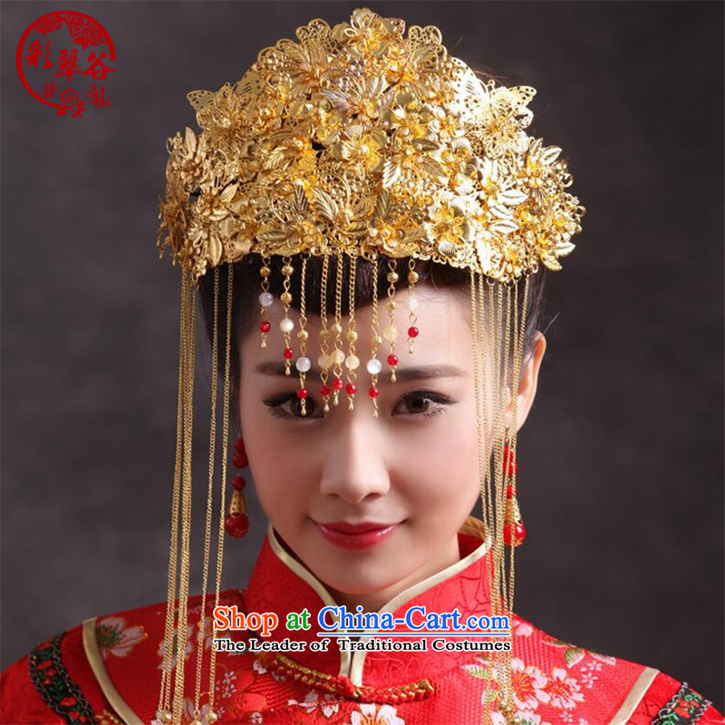 Also the Hong Kong Chinese bride Bong-crown valley costume Head Ornaments Soo Wo Service head hair accessories for International Gift