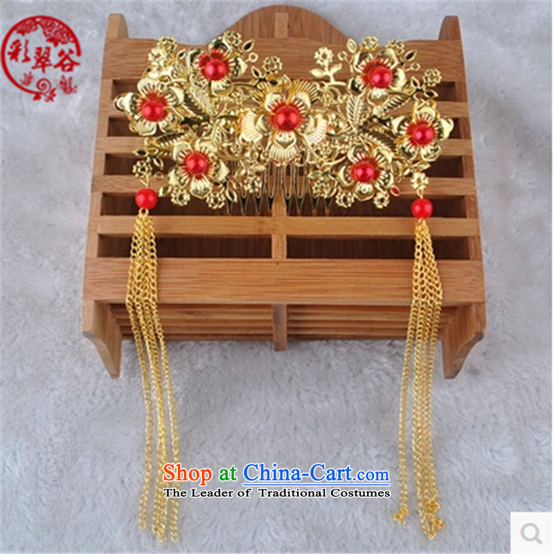 Multimedia verdant valleys costume bride Bong-sam Hui headdress Ancient Costume jewelry from the game by Ornate Kanzashi bride Sau Wo Service Head Ornaments red gift red