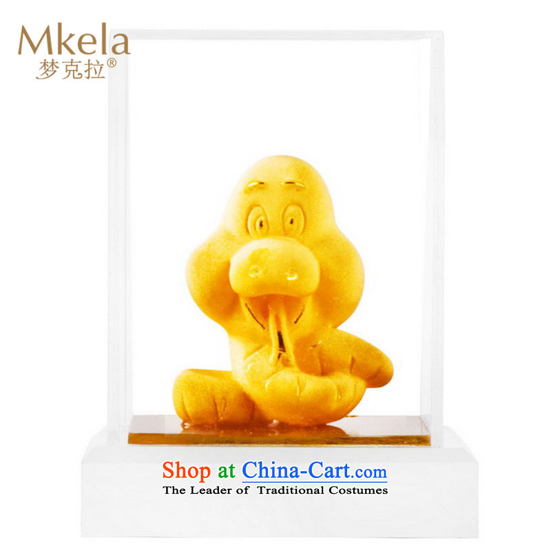 Dream of gold thousands mkela carat gold ornaments lint-free cast gold ornaments thousands of gold cast Kim 12 animals of the Chinese zodiac ornaments Snake