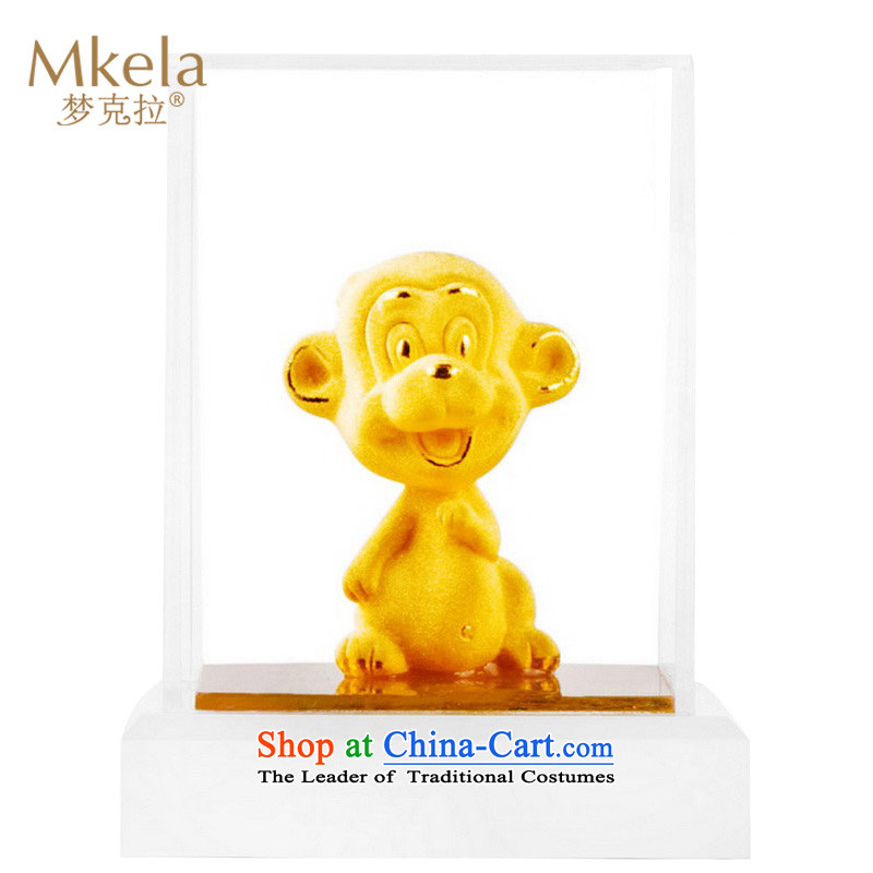 Dream of gold thousands mkela carat gold ornaments lint-free cast gold ornaments thousands of gold cast Kim 12 animals of the Chinese Zodiac Monkey Ornaments
