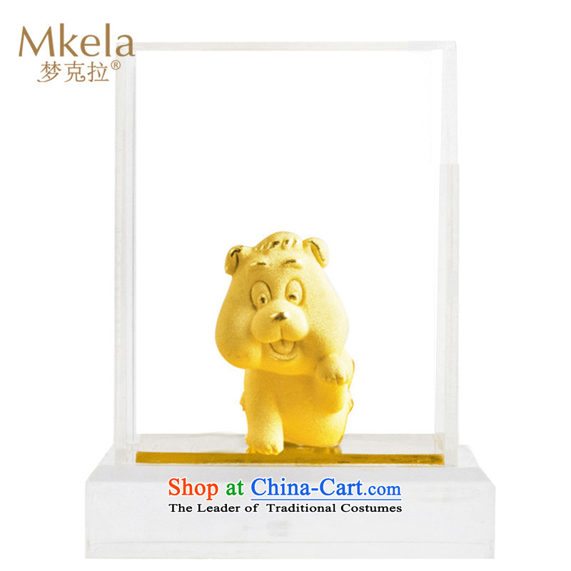 Dream of gold thousands mkela carat gold ornaments lint-free cast gold ornaments thousands of gold cast Kim 12 animals of the Chinese zodiac dog Ornaments