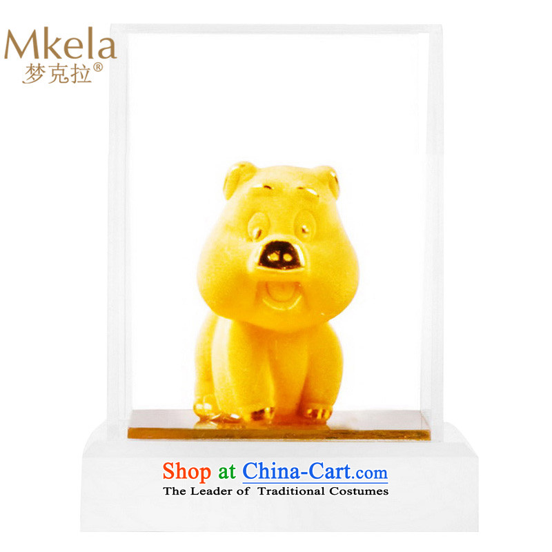 Dream of gold thousands mkela carat gold ornaments lint-free cast gold ornaments thousands of gold cast Kim 12 animals of the Chinese zodiac pigs Ornaments